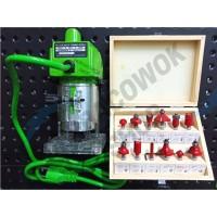 RYU Paket Mesin Router Trimmer Profil Kayu Wood RTR 6 - 1 + Mata