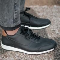 Sepatu Pria Sneaker Kets Casual BARNUM JULIUS BLACK Official Store