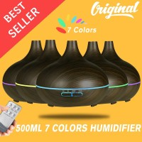 Humidifier Aroma Essential Oil Diffuser 500ml with Wood Grain 7 Color