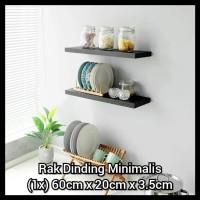 Erenor 60x20cm Rak Dinding Minimalis / Floating Shelves / Rak Buku