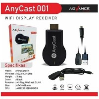 ANYCAST DONGLE HDMI WIFI DISPLAY RECEIVER TV - ADVANCE
