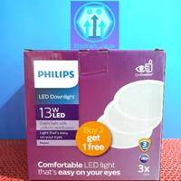 Lampu LED Pelafon PHILIPS LED DOWNLIGHT 13 Watt Beli 2 GRATIS 1