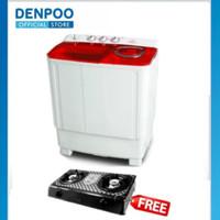 DENPOO MESIN CUCI DW 8907 4P 8KG 2 TABUNG FREE KOMPOR (ONLY SURABAYA)
