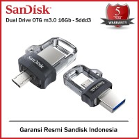 SanDisk FlashDisk OTG 16Gb USB 3 - Flash Disk 16Gb OTG - SDDD3 16 Gb
