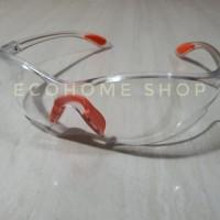 Kacamata safety Blue bening clear goggle ngelas fashion gaya Termurah