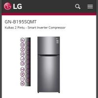 KULKAS LG GN-B195SQMT SMART INVERTER KOMPRESOR 3 PINTU