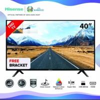 Resmi HiSense LED Digital TV 40 inch DVB T2 USB HDMI FHD 1080p E5100EX