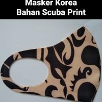 Masker Korea / Scuba Tebal Print