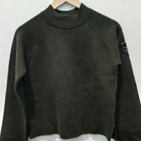 *Preloved* Sweater sweatshirt rajut army stradivarius