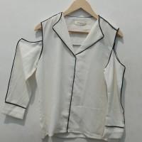 *Preloved* Atasan Big Size blouse off shoulder putih mineola