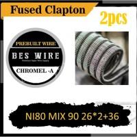 FUSED CLAPTON MECHA NI80 MIX NI90 26*2+36 CHROMEL A - 2pcs