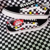 Sepatu Vans Oldskool Checker Board Rainbow Kode Wafle DT,ICC