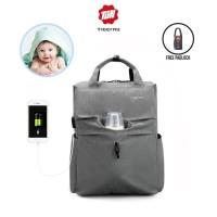 TIGERNU T-B3355 Diaper Baby Backpack Bag - Tas Ransel Bayi GREY