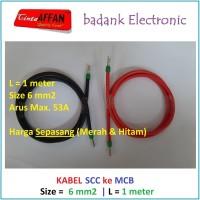 Kabel 6 mm2 Solar Charge Controller SCC ke MCB Solar Panel Surya