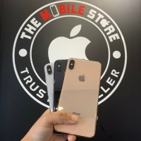iPhone Xs Max 64GB Second Original Fullset Mulus Bergaransi - Silver