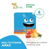 Youvit Multivitamin Gummy Anak 1 Box (6 Sachet)