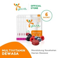 Grosir Youvit Multivitamin Gummy Dewasa 1 Box (6 Sachet)