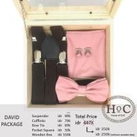 Best Product Groomsmen Box Bestman Cufflinks Dasi Wedding Bowtie David