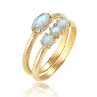 Elli Jewelry Perhiasan Wanita Perak Asli - Cincin Gems Labradorite GP