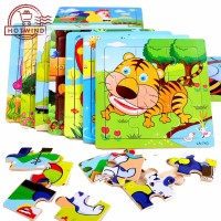 HW Mainan Edukasi Papan Puzzle Kayu Gambar Kartun untuk Anak