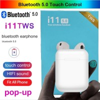 I11 TWS Earphone Wireless Bluetooth Mini dengan Case Charger