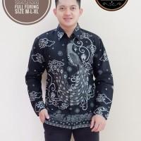 Merak Abu Kemeja Batik Pria Lengan Panjang by SM-Batik