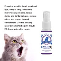 Pet Breath Freshener Spray Dog Teeth Cleaner Dog Cat Oral Healthy