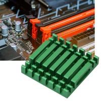 Yoauko 10Pcs Plat Aluminium Pendingin Heatsink CPU Warna Hijau