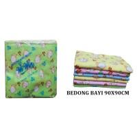 Kain bedong bayi selimut bayi katun ukbesar 90x90cm isi 6 Makassar