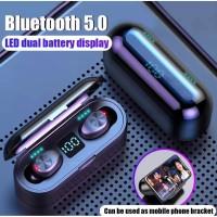 F9 TWS Headset Bluetooth 5.0 Wireless Earphone LED Display IPX7 Mini