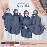 bergo hijab syari lengan cadar khania 4 in 1 khimar jilbab instan