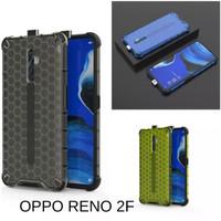Casing Hardcase Honeycomb Oppo Reno 2F Hard Back Case