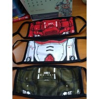 Masker Kain Gundam Combed 30S 2 Lapis