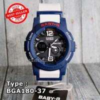 Jam tangan Wanita & anak Baby-G Shock BGA-180 Putih navy biru dongker