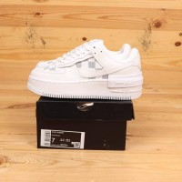 Nike Air Force 1 Shadow White / White Grey Premium