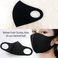 Masker Kain Bahan Scuba Anti Debu Anti air - Masker scuba