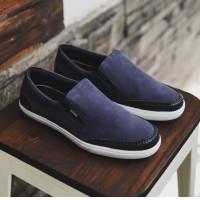Sepatu Pria Slip On Kasual Slop Santai Adidas Advantage Navy