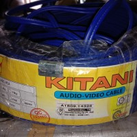 kabel RCA Isi 2 Jalur biru per meter Kitany two ways way