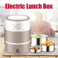 Electric Heating Lunch Box Kotak Bekal Berpenghangat - Merah Muda