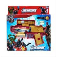 Mainan Pistol SOFT BULLET GUN AVENGERS Soft Blaster Nerf Gun Figure