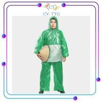 Jas Hujan Plastik / Jaket Dan Celana Kombinasi HDPE TEBU - Hijau