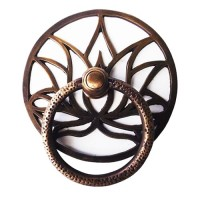 "5-1/2"" Tarikan Pintu Handle Gebyok / Door Ring Pull - HRP2074 Lotus"