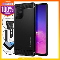 Case Samsung Galaxy S10 Lite Spigen Rugged Armor Carbon Fiber Casing