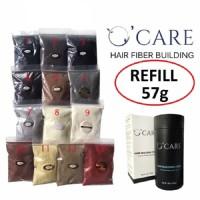 OCARE Hair fiber HITAM 57gr / Toppik Caboki Keralux Sevich / HAR00389