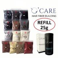 OCARE Hair Fiber HITAM 25gr / Rambut Caboki Toppik Keralux / HAR00131