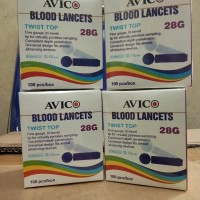 Avico Lancet/jarum blood lancet 28 G new