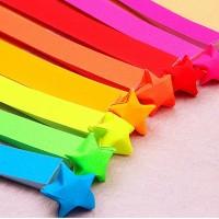 Kertas Origami warna warni 24x1cm bintang,origami Paper star