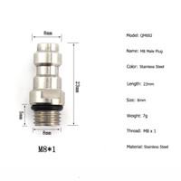 Import KOPLER COUPLER JANTAN DRAT M8 PCP Paintball AFC M8*1 Thread 8mm