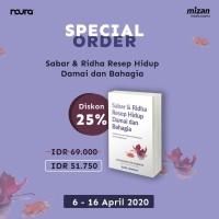 Sabar Dan Ridha/M Zaki Mubarak/Noura Books [Original 100%]