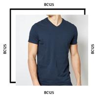 SML Kaos V-NECK polos Cotton Combed 30s